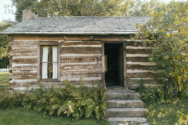 Old wooden cabin exterior