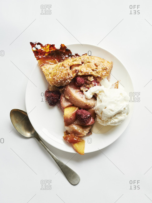 Slice of raspberry and peace pie