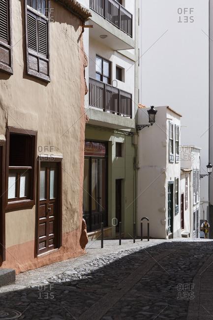 12/17/16 - Spain, Isle of La Palma: Houses in Santa Cruz de La Palma.