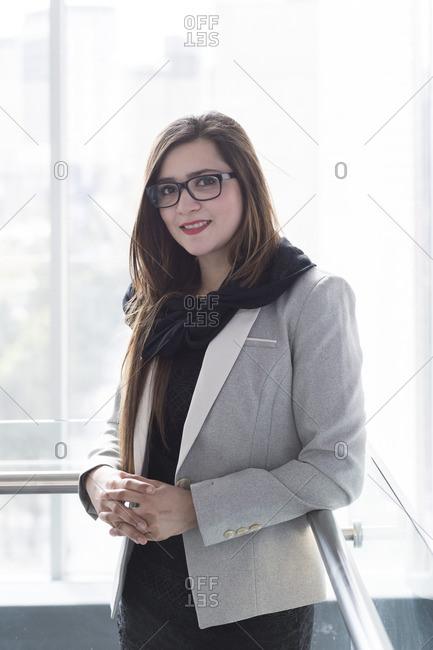 Muslim woman in an office