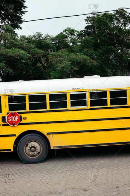 Monteverde, Costa Rica - November 10, 2015: School bus