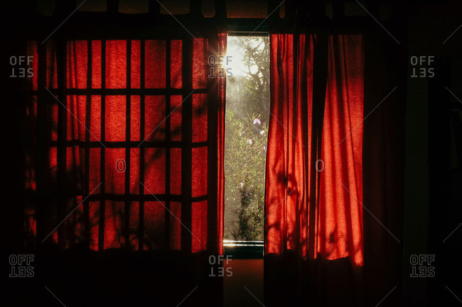 Sun shining through window in Hotel at Carillo Beach, Costa Rica