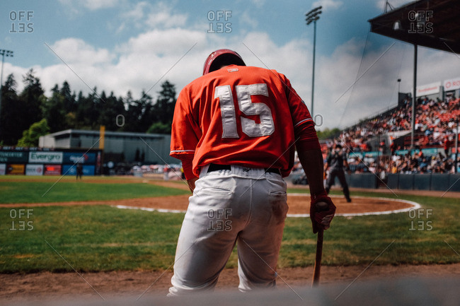 Vancouver, Canada - August 21, 2016: A baseball player of the Vancouver Canadians