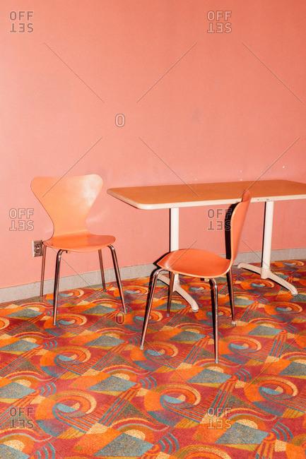 Chairs in a cinema in Victoria, Canada