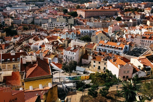 Lisbon, Portugal - November 10, 2016: City view