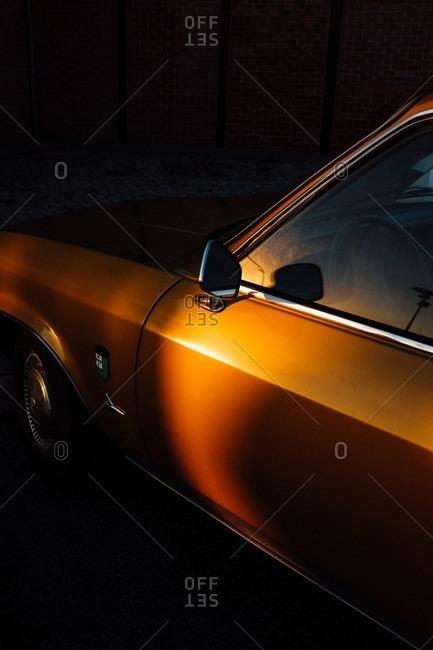 Lisbon, Portugal - November 10, 2016: An old car in the evening sun