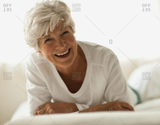 Smiling senior woman.