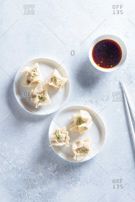 Steamed Shumai with Chili Dipping Sauce