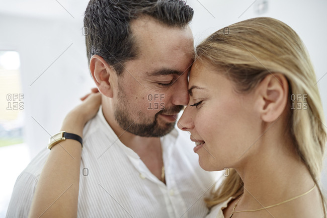 Tender couple embracing