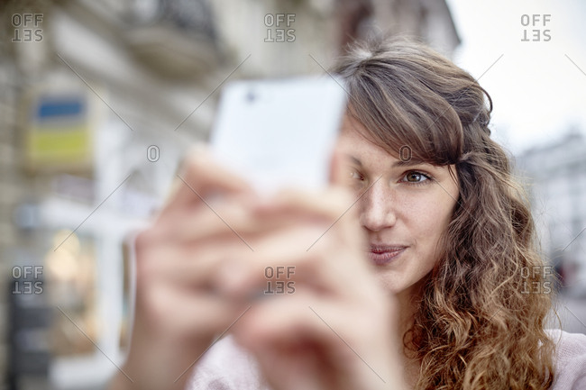 Young woman posing for a selfie
