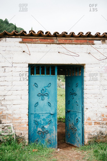 Blue door in Mexico