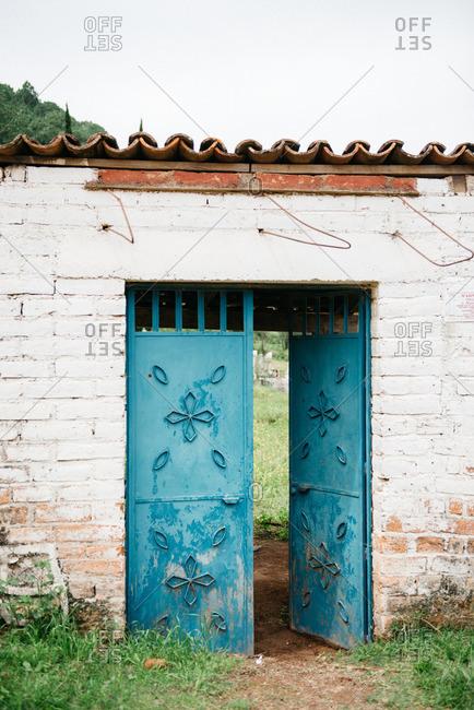 Blue door in Mexico
