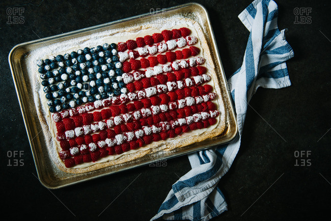 American flag cookie
