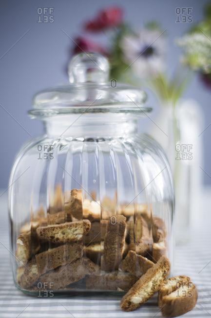 Cookies by a jar