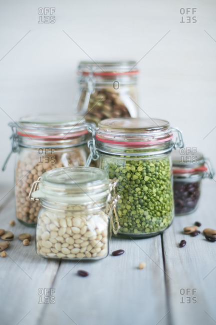 Legume varieties in jars