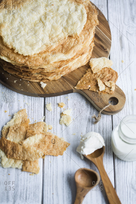 Ingredients for mille-feuille cake