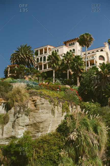 Resort on a cliff in California