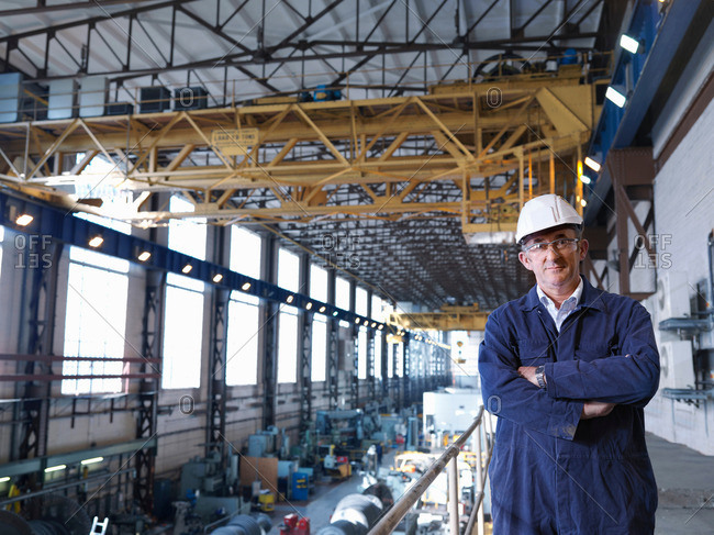 Engineer Above Turbine Hall - Offset