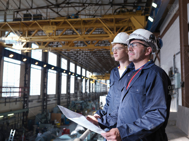 Engineers Above Turbine Hall - Offset