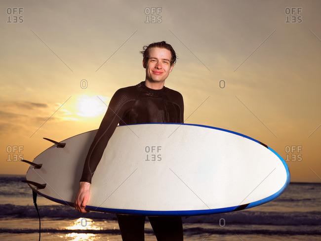 Portrait of a male surfer