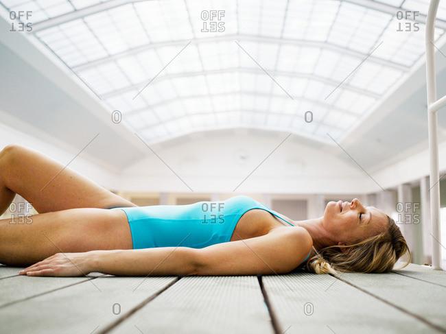 Woman wearing bathing suit