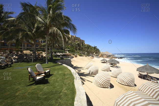 Baja, Mexico - June 1, 2006: The beachfront area at the Sheraton Hacienda Hotel in Cabo San Lucas in Baja, Mexico