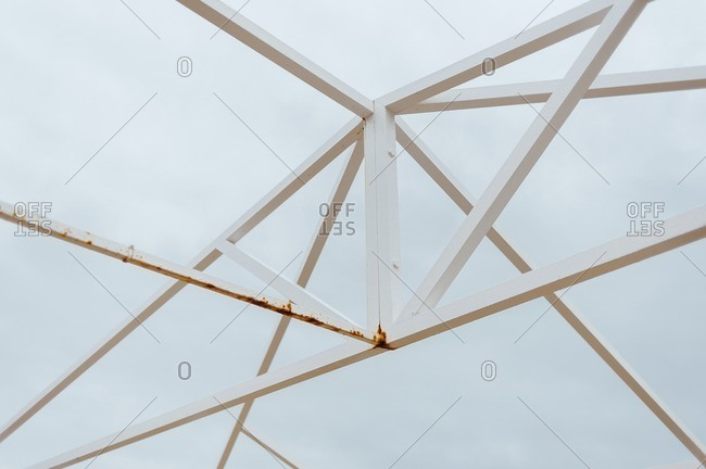 Sky view from a tent structure in Huelva, Spain