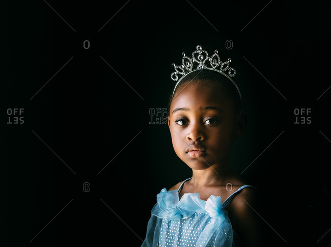 Portrait of beautiful little girl in a princess costume