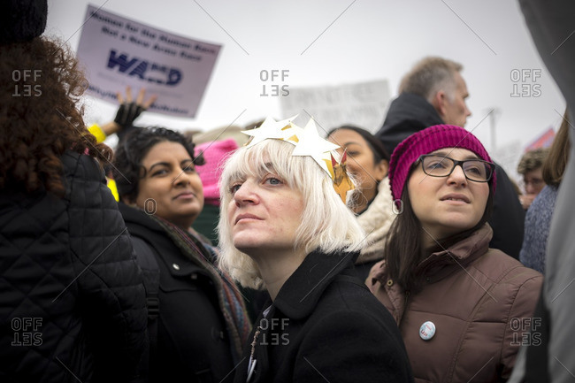 Washington, D.C., USA - January 21st, 2017: The Women's March from the US Capitol building down the Mall to the Whitehouse.