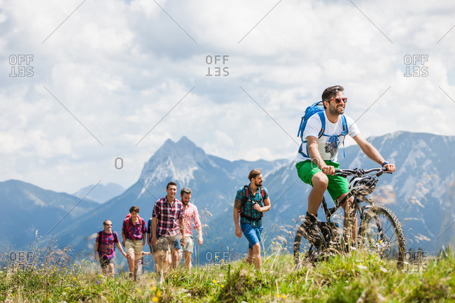 Group of friends hiking, Tyrol, Austria