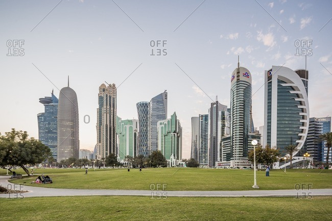 Al Dafna district (West Bay Business quarter), United Arab Emirates: view of the town from Sheraton Park