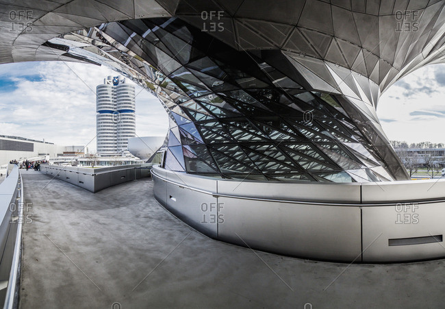 Berlin, Germany: BMW Museum, the exterior
