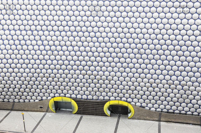 Bullring Shopping Centre area, detail of the Selfridges Building, architect: Jan Kaplick_ and Amanda Levete