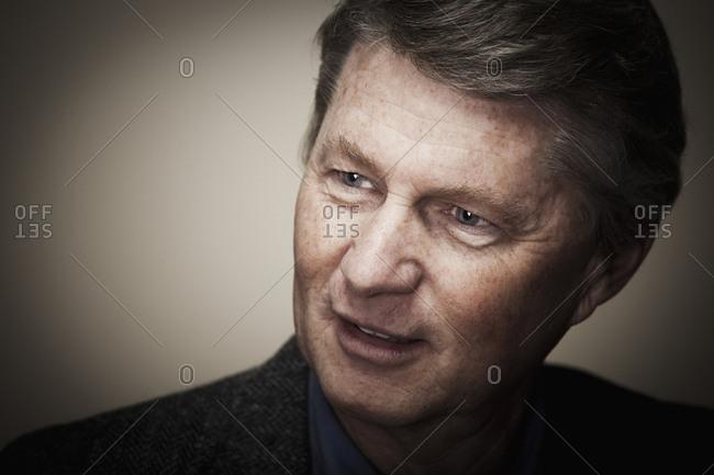 Smiling Caucasian businessman