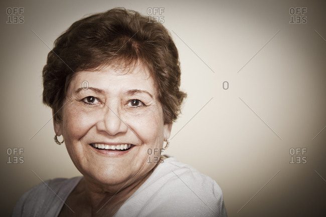 Smiling senior Hispanic woman - Offset