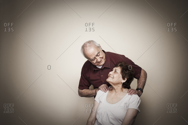 Smiling Hispanic couple