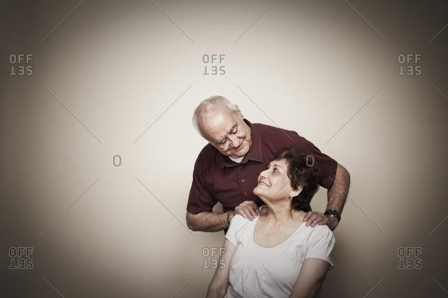 Smiling Hispanic couple