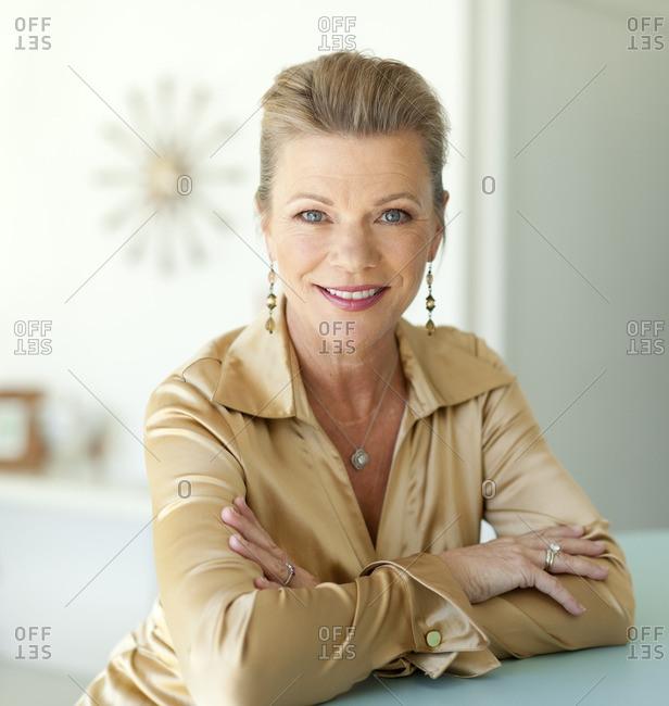 Smiling glamorous Caucasian woman
