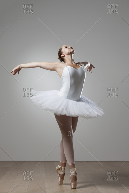 Graceful ballet dancer in tutu