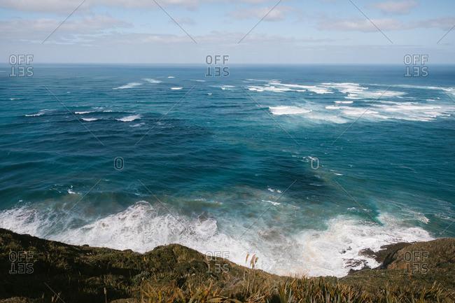 Seascape off cliff coast