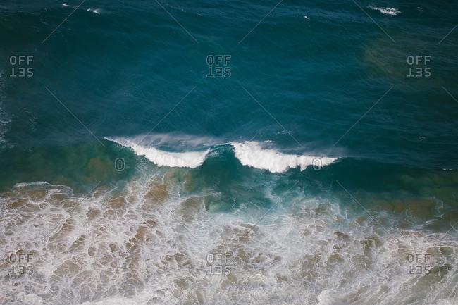 Ocean waves off a shore