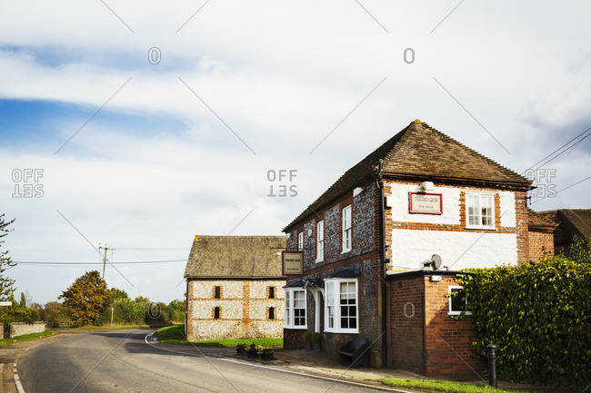 England - November 3, 2016: The Red Lion public house, a village pub.
