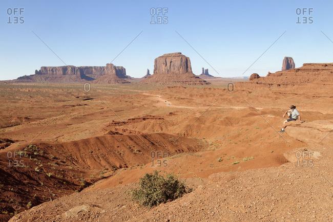 Navajo Tribal Park - March 4, 2016: Monument Valley, Navajo Tribal Park, Arizona, USA