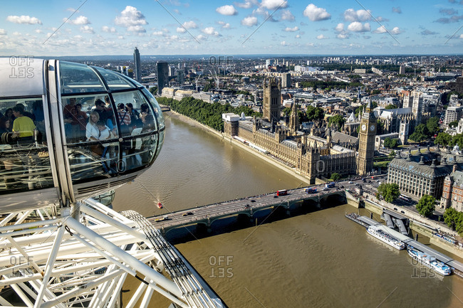 London, England - June 7, 2016: The London Eye, England, United Kingdom