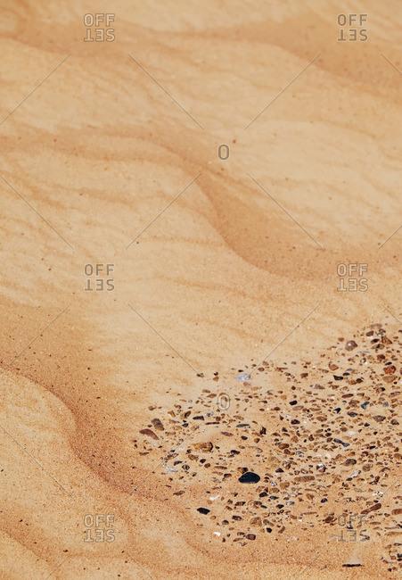 Stones in a sandy dune