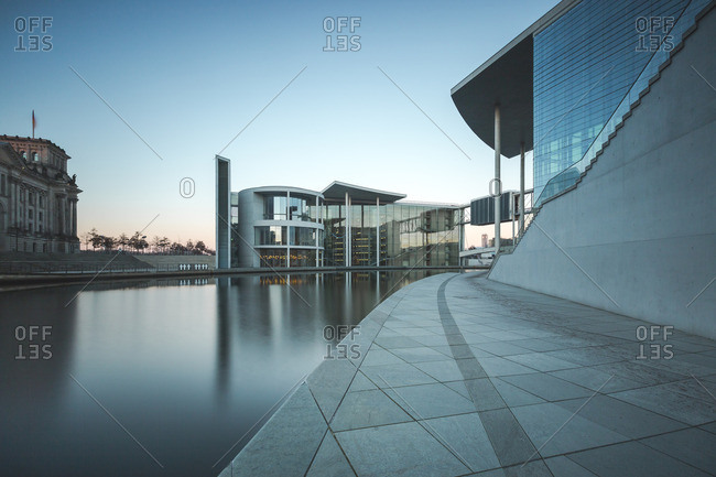 Reichstag Paul Loebe Building River Spree and Marie Eisabeth Lueders Building
