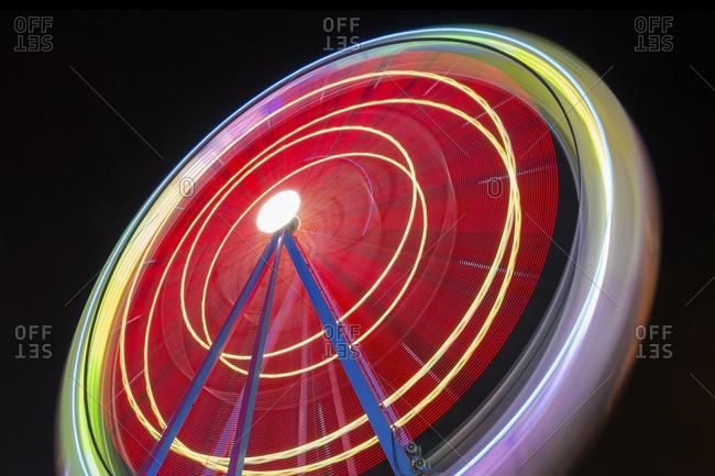 Moving big wheel at night