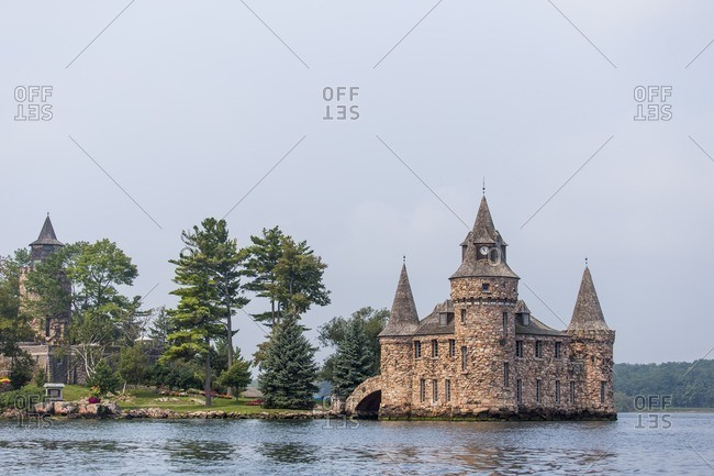 Boldt Castle on the St. Lawrence River in upstate New York's 1000 Islands area