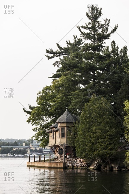A home on an island in the St. Lawrence River in upstate New York