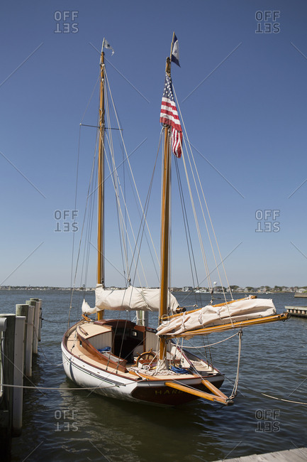 November 8, 2013: A sailboat tied to dock
